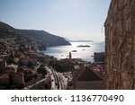 the old town of dubrovnik in... | Shutterstock . vector #1136770490