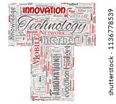 vector conceptual digital smart ... | Shutterstock .eps vector #1136778539
