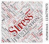 vector conceptual mental stress ... | Shutterstock .eps vector #1136779070