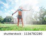 cute little girl refresh... | Shutterstock . vector #1136782280