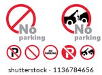 traffic sign no parking tow... | Shutterstock .eps vector #1136784656