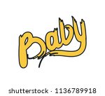 baby calligraphy word colorful... | Shutterstock .eps vector #1136789918