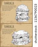 hamburgers graphic art isolated ... | Shutterstock .eps vector #1136790023