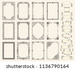 frames and ribbons vector...   Shutterstock .eps vector #1136790164