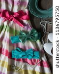 bow headband set of colorful... | Shutterstock . vector #1136795750