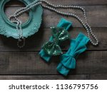 bow headband set of colorful... | Shutterstock . vector #1136795756