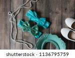 bow headband set of colorful... | Shutterstock . vector #1136795759