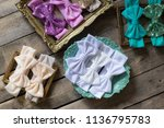bow headband set of colorful... | Shutterstock . vector #1136795783