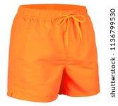 orange men shorts for swimming...   Shutterstock . vector #1136799530
