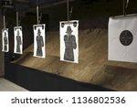 shooting range. shooting target ...   Shutterstock . vector #1136802536