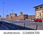 livorno italy 15.07.2017.   old ... | Shutterstock . vector #1136806700