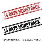 14 days moneyback stamp seal... | Shutterstock .eps vector #1136807450