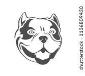american bully logo. bully's...   Shutterstock .eps vector #1136809430