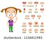 mouth animation set for cute... | Shutterstock .eps vector #1136811983
