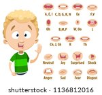 mouth animation set for cute... | Shutterstock .eps vector #1136812016