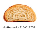 croissant cut in a half.... | Shutterstock . vector #1136812250