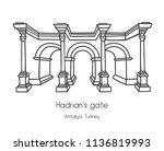 vector illustration of hadrian...   Shutterstock .eps vector #1136819993