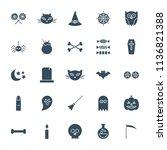 halloween solid web icons.... | Shutterstock .eps vector #1136821388