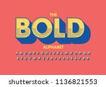 vector of modern bold font and... | Shutterstock .eps vector #1136821553