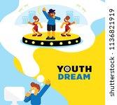 rapper dream youth dream...   Shutterstock .eps vector #1136821919