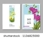 wedding invitation layout... | Shutterstock .eps vector #1136825000