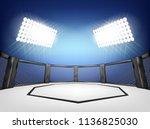 empty cage martial arts... | Shutterstock .eps vector #1136825030