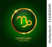 horoscope. capricorn. zodiac... | Shutterstock .eps vector #1136828180
