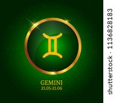 horoscope. gemini. zodiac icon. ...   Shutterstock .eps vector #1136828183