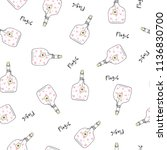 seamless pattern with glass... | Shutterstock .eps vector #1136830700