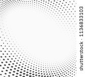 dotted abstract form. vector... | Shutterstock .eps vector #1136833103