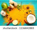 thai food background.... | Shutterstock . vector #1136842883