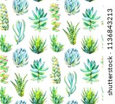 watercolor seamless pattern... | Shutterstock . vector #1136843213