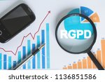 business search loupe magnifier ... | Shutterstock . vector #1136851586