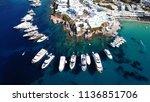 aerial drone  bird's eye view... | Shutterstock . vector #1136851706