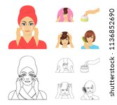 cosmetic  salon  hygiene  and...   Shutterstock .eps vector #1136852690