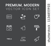 modern  simple vector icon set... | Shutterstock .eps vector #1136855933