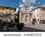 italy  spoleto 17 july 2018 ...   Shutterstock . vector #1136857223