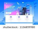 data center and hosting.... | Shutterstock .eps vector #1136859980