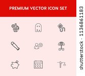 modern  simple vector icon set... | Shutterstock .eps vector #1136861183