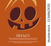website spooky header or banner ... | Shutterstock .eps vector #1136862920