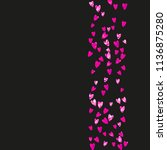 heart frame background with... | Shutterstock .eps vector #1136875280