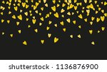 wedding confetti with gold... | Shutterstock .eps vector #1136876900