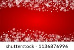 christmas border with white... | Shutterstock .eps vector #1136876996