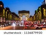 paris  france   june 25  2017 ... | Shutterstock . vector #1136879930