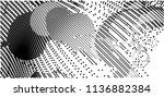 abstract vector background dot... | Shutterstock .eps vector #1136882384