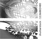 abstract vector background dot... | Shutterstock .eps vector #1136882480