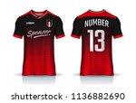 t shirt sport design template... | Shutterstock .eps vector #1136882690