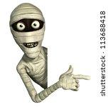 halloween mummy | Shutterstock . vector #113688418