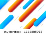 minimal geometric background.... | Shutterstock .eps vector #1136885018