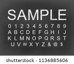 white chalk modern english... | Shutterstock .eps vector #1136885606